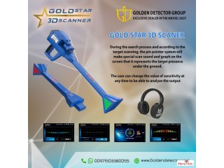 3D Metal Detector Gold Star