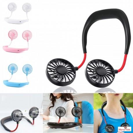 portable-hands-free-neck-usb-rechargeable-dual-mini-fan-big-0