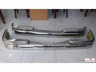 Mercedes Benz W111 Sedan bumpers, stainless steel