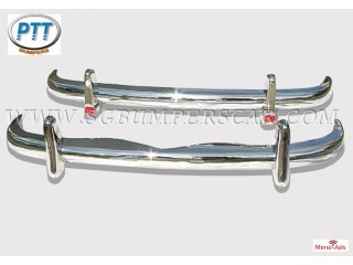 Mercedes Benz 220S SE Ponton stainless steel bumpers
