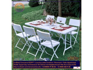 SunBoat garden furniture | folding dining 7 pieces set | HDPE rattan series | Imported