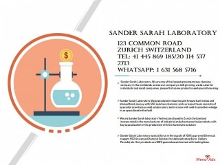Sander Sarah Laboratory is a great place to purchase all chemical for defaced notes