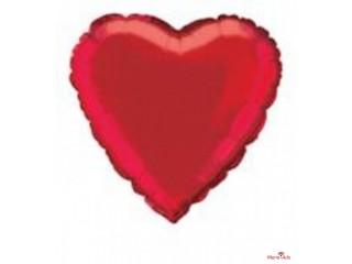Ballon en aluminium en forme de cœur rouge