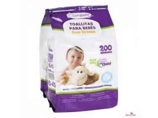 Lingettes pour bébé avec crème