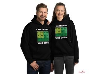 Sweat-shirt à capuche developer periodic table