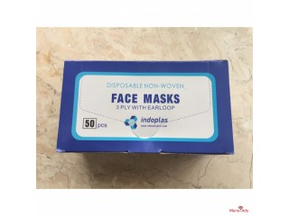 Good quality surgical disposable medical 3ply non woven face mask
