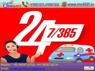 Avail Reasonable Cost Medilift Ambulance Service in Varanasi