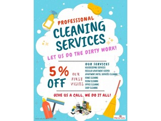 Housekeeping and Laundry (Please Contact us via WhatsApp Business only)