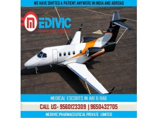 Get Splinted Medical Support Air Ambulance Service in Chennai by Medivic