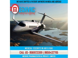 Select Credible ICU & CCU Care Air Ambulance Service in Mumbai by Medivic
