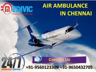 Medivic Air Ambulance Services in Chennai-Provides Full Hi-tech ICU Care