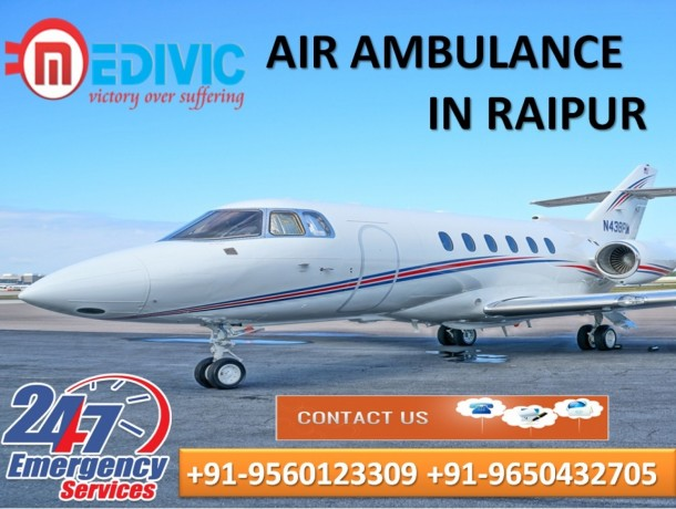 pick-world-level-hi-fi-charter-air-ambulance-services-in-raipur-by-medivic-big-0