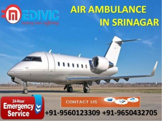Get Prime ICU Support Air Ambulance Services in Srinagar by Medivic