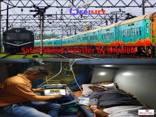 Reasonable Cost Medilift Train Ambulance Service from Patna to Delhi