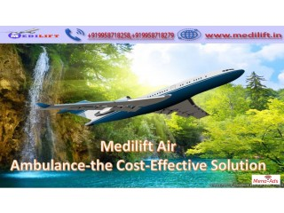 Most Reliable Air Ambulance Service in Bhopal by Medilift