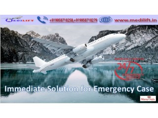 Avail Medilift Full ICU Setups Air Ambulance Service in Bagdogra