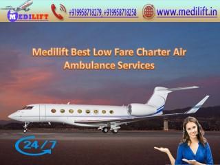 Take Modern Air Ambulance Service in Gorakhpur by Medilift