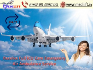 Hire Superior Air Ambulance Service in Varanasi with ICU Support