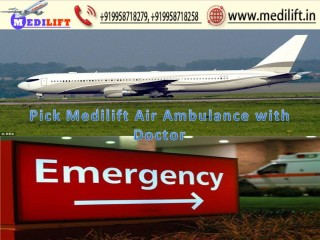 Take Modern Air Ambulance Patna to Delhi by Medilift