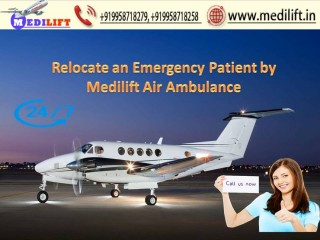 Book Hassle-Free Air Ambulance Ranchi to Delhi by Medilift