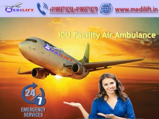 Avail ICU Facility Air Ambulance Service in Bhopal by Medilift