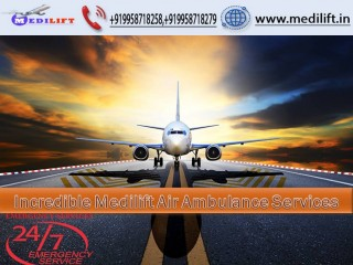 Hire Classy Air Ambulance Service in Jamshedpur with Medical Tool